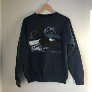 Vintage Bald Eagle Crewneck Sweatshirt